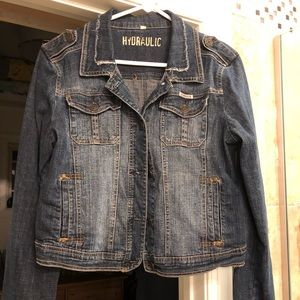 Distressed Jean Jacket - Hydraulic